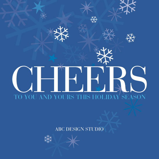 non-photo holiday cards - Cheerflakes by Susan Uedelhofen