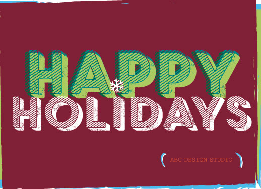non-photo holiday cards - Happyflake by Susan Uedelhofen