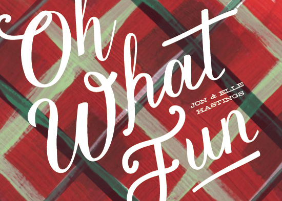 non-photo holiday cards - Oh What a Plaid by Baumbirdy