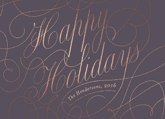 non-photo holiday cards - chic flourish by Aspacia Kusulas