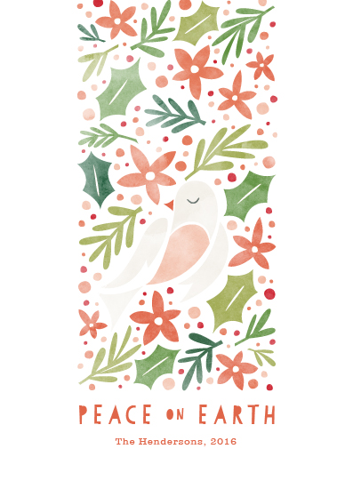 non-photo holiday cards - dove of peace by Aspacia Kusulas
