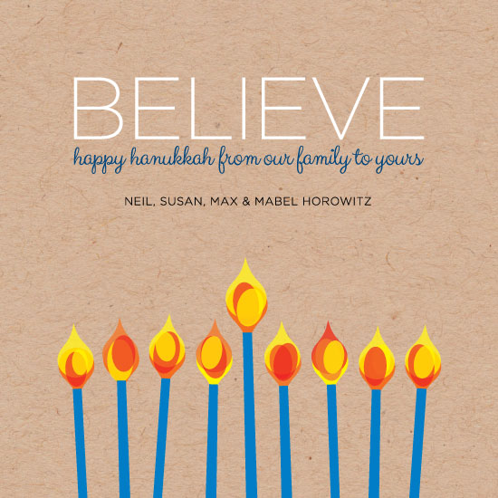 non-photo holiday cards - 8 Days of Hanukkah by Papermine Studio