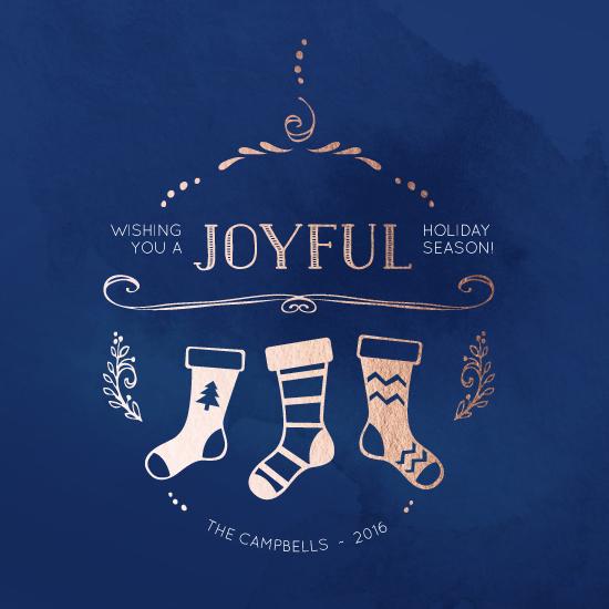 non-photo holiday cards - Joyful Stockings by Lisa M