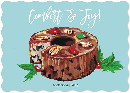 non-photo holiday cards - Fruitcake Joy by Kelly Christina