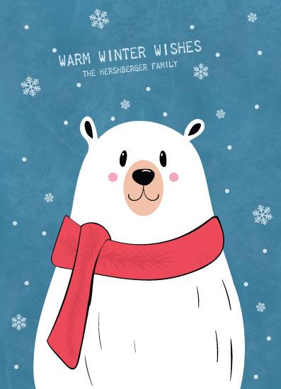 non-photo holiday cards - Polar Bear by Marina Markova