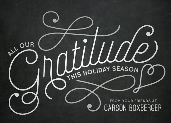 non-photo holiday cards - Great Gratitude by Jessie Steury