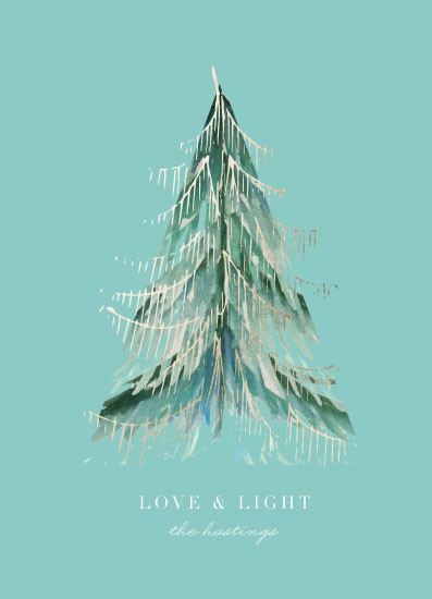 non-photo holiday cards - love light & tinsel by Baumbirdy