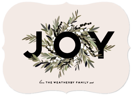 non-photo holiday cards - Joyous Wreath by Leah Bisch