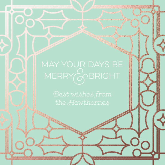 non-photo holiday cards - Deco the Halls by Moy Creative