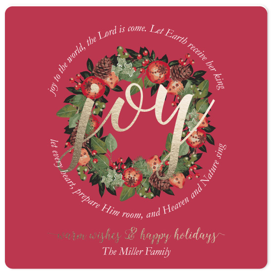 non-photo holiday cards - Joy to the World by Emily Ripka