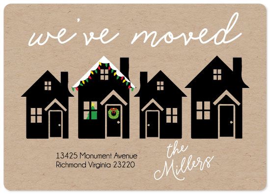 non-photo holiday cards - We moved! by Emily Ripka