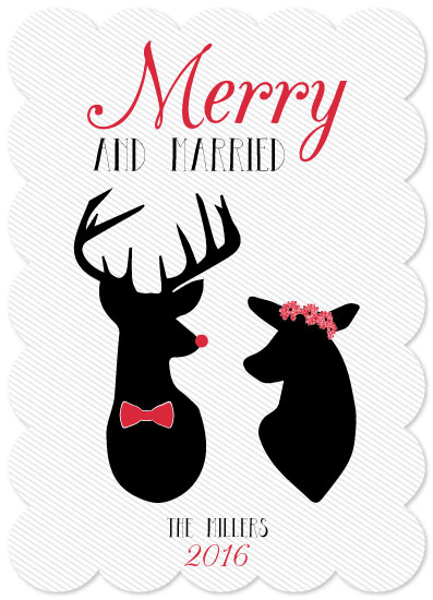 non-photo holiday cards - Newlyweds by Emily Ripka