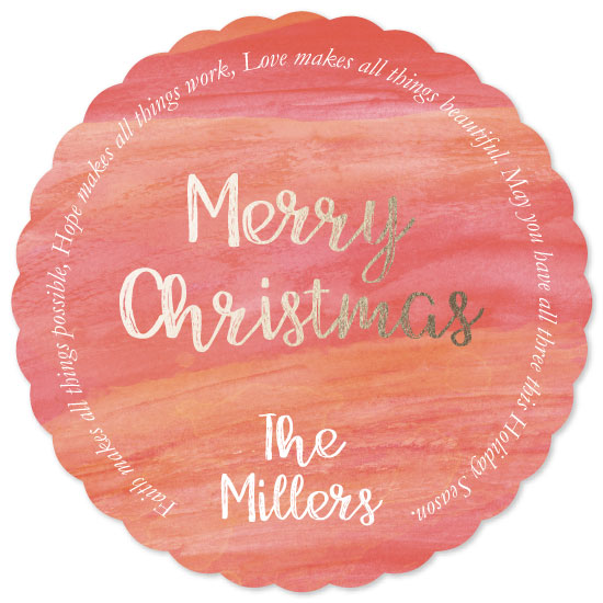 non-photo holiday cards - Faith | Hope | Love by Emily Ripka