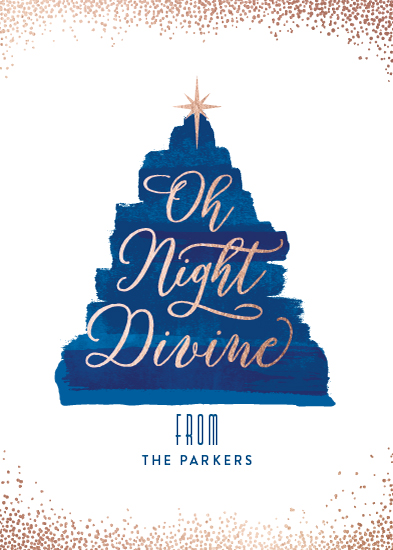 non-photo holiday cards - Oh Night Divine by Hooray Creative