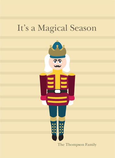 non-photo holiday cards - The Nutcracker by Apercu Design Studio