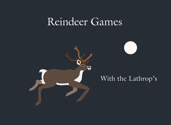 non-photo holiday cards - Reindeer Flight by Apercu Design Studio