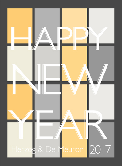 non-photo holiday cards - New Year's Eve by Apercu Design Studio