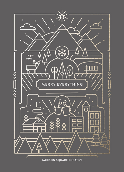 non-photo holiday cards - Merry Line Art by Dana Beckwith