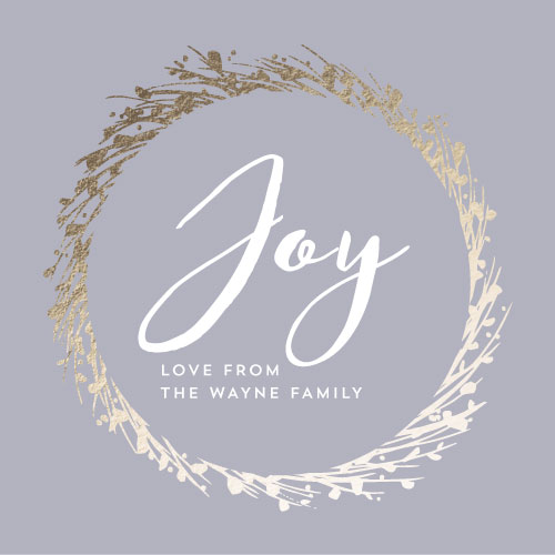 non-photo holiday cards - Joyful Wreath by Danielle Romo