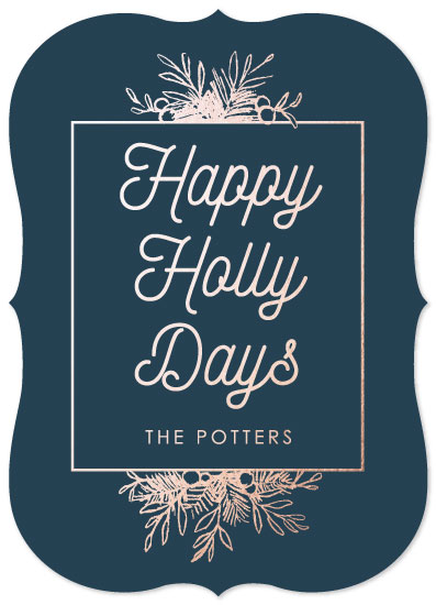 non-photo holiday cards - Happy Hollydays by Danielle Romo