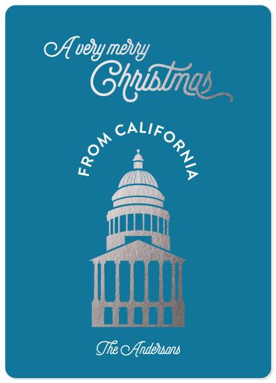 non-photo holiday cards - A Sacramento Christmas by illustrata.design