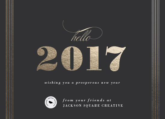 non-photo holiday cards - Hello 2017 by Shirley Lin Schneider