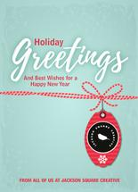 Holiday gift tag by Judith Clifford