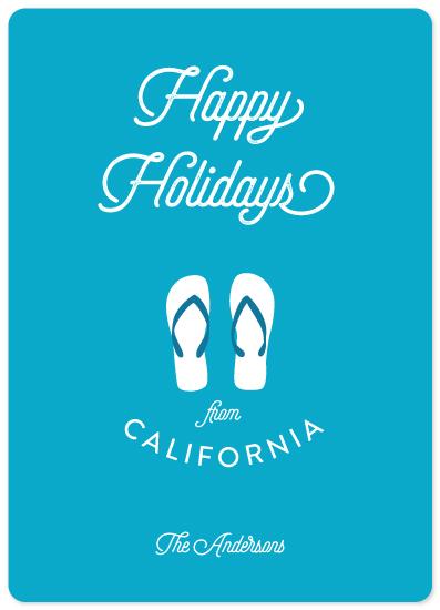 non-photo holiday cards - California Season by illustrata.design