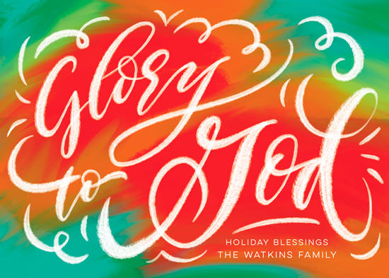 non-photo holiday cards - Painted Glory by Laura Bolter Design