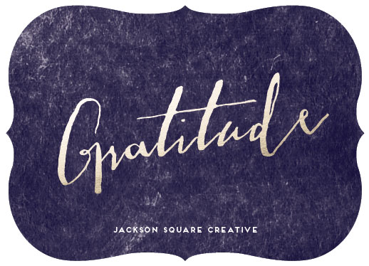 non-photo holiday cards - Gratitude by Debb W