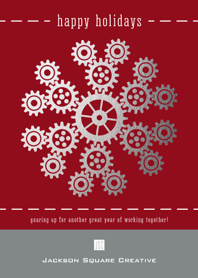 non-photo holiday cards - Industrial Snowflake by PrintHappy Designs