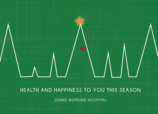 non-photo holiday cards - Health Heartbeat by Kailyn Glassmacher