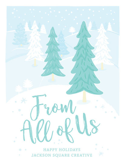 non-photo holiday cards - From All Of Us by Denise Cupoli