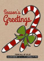Candy cane thank you by Judith Clifford