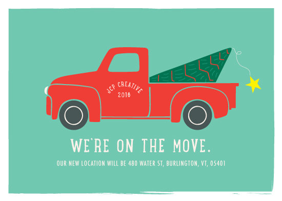 non-photo holiday cards - On The Move by Denise Cupoli