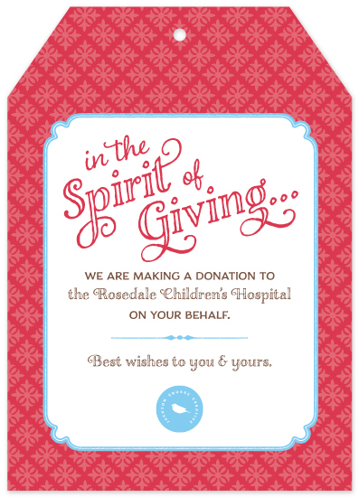 non-photo holiday cards - the Spirit of Giving by Moy Creative