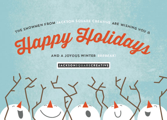 non-photo holiday cards - Singing Snowmen by Olivia Goree