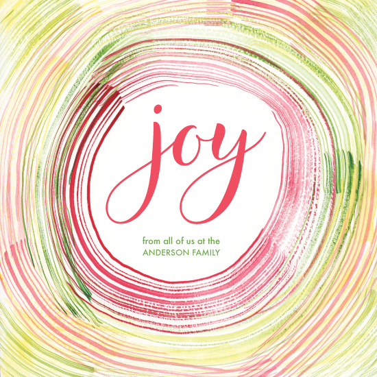 non-photo holiday cards - Joy! by Taniya Varshney