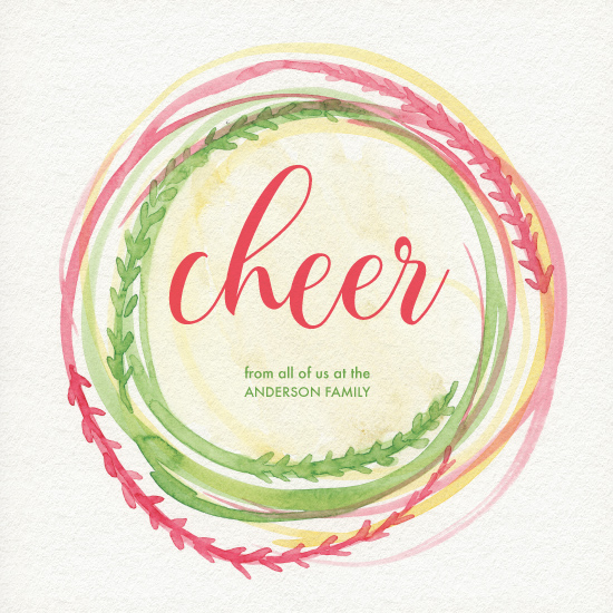 non-photo holiday cards - Cheer! by Taniya Varshney