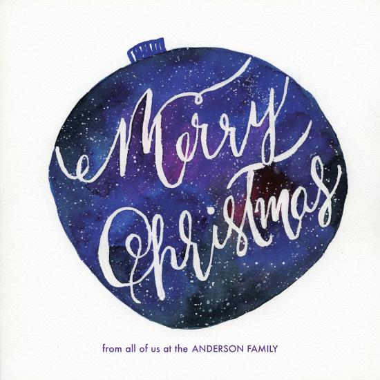non-photo holiday cards - Starry Christmas Ornament by Taniya Varshney