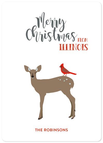 non-photo holiday cards - Deer Santa by illustrata.design