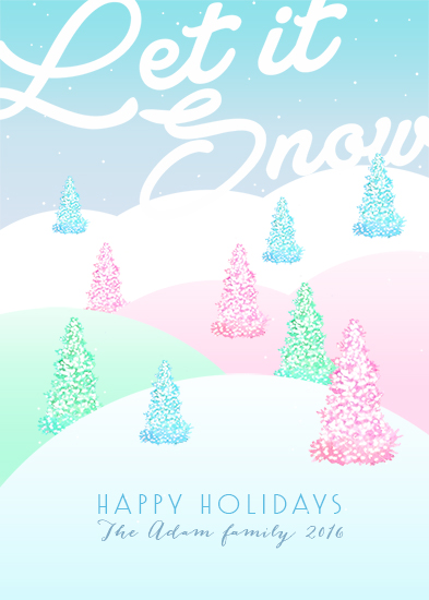non-photo holiday cards - Snowy Mountains by Maria Montiel