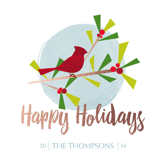 non-photo holiday cards - Cardinal Holiday by Anastasia B. Kijewski