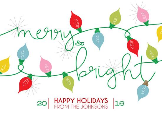 non-photo holiday cards - Merry and Bright Holiday Greetings by Anastasia B. Kijewski