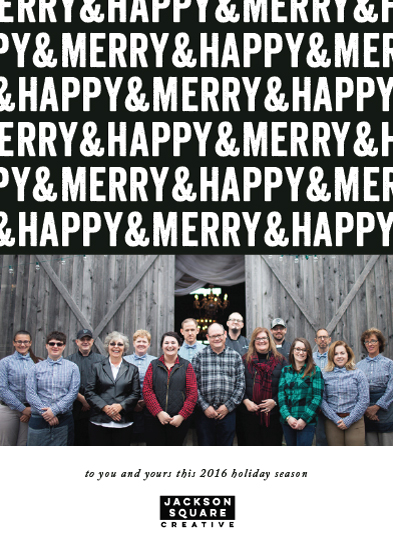 non-photo holiday cards - Merry & Happy by Melissa Casey