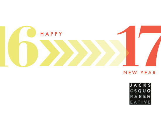 non-photo holiday cards - New Years Typography by Denise Cupoli