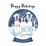Bunny snow Globe by MENNATALLA ALSAYED