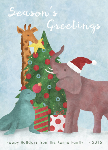 non-photo holiday cards - A Holiday Circus by Erin Sunshine Kenna