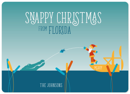 non-photo holiday cards - Snappy Christmas by illustrata.design
