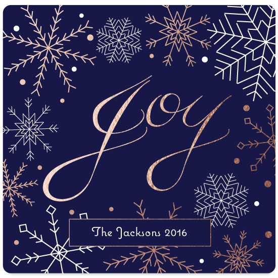 non-photo holiday cards - Snowflake Joy by Lakeside Handmade